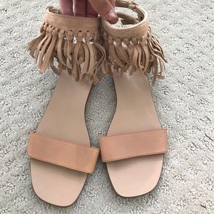 EUC - Splendid Boho Fringe Leather/Suede Sandals 7